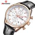 LONGBO Homens De Luxo Assistir Esportes Relógios de Quartzo Para Os Homens de Lazer de Couro De Aço Completo Relógio Militar Assista Relogio masculino 80179