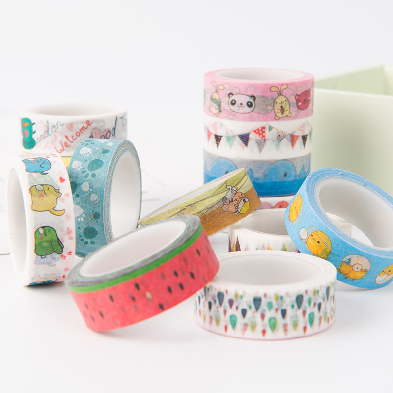 DIY Cute Kawaii Character Flag Washi Tape Stickers Scrapbooking Decorative Adhesive Tape Masking Tape Office School Stationery