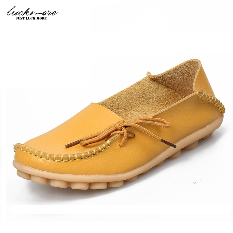 Women Casual Shoes Genuine Leather 2017 Spring Fashion Antiskid Soft Slip On Ladies Flats Footwear Woman Loafers High Quality zapatillas hombre 2017 fashion comfortable soft loafers genuine leather shoes men flats breathable casual footwear 2533408w