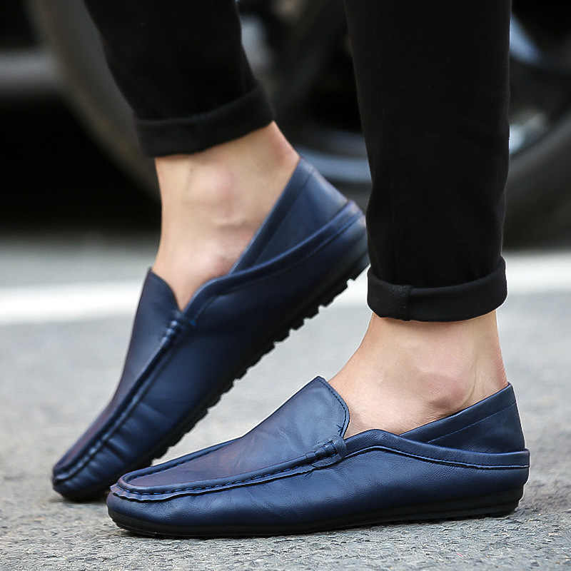 Mode Mannen Schoenen mannen Solid Simple Casual Lage helpen Zwart Bruin Wit Platte Loafers Schoenen Zapatos De Hombre footwear Sneakers
