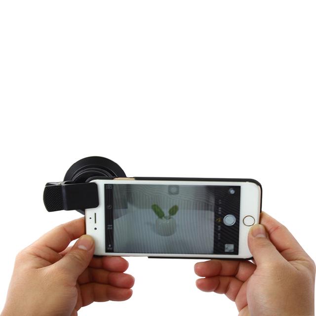 2016 2in1 Macro de Alta Definición Lente Gran Angular 0.6X con Clip 37mm lente de teléfono móvil para iphone 6 s 7 samsung xiaomi huawei