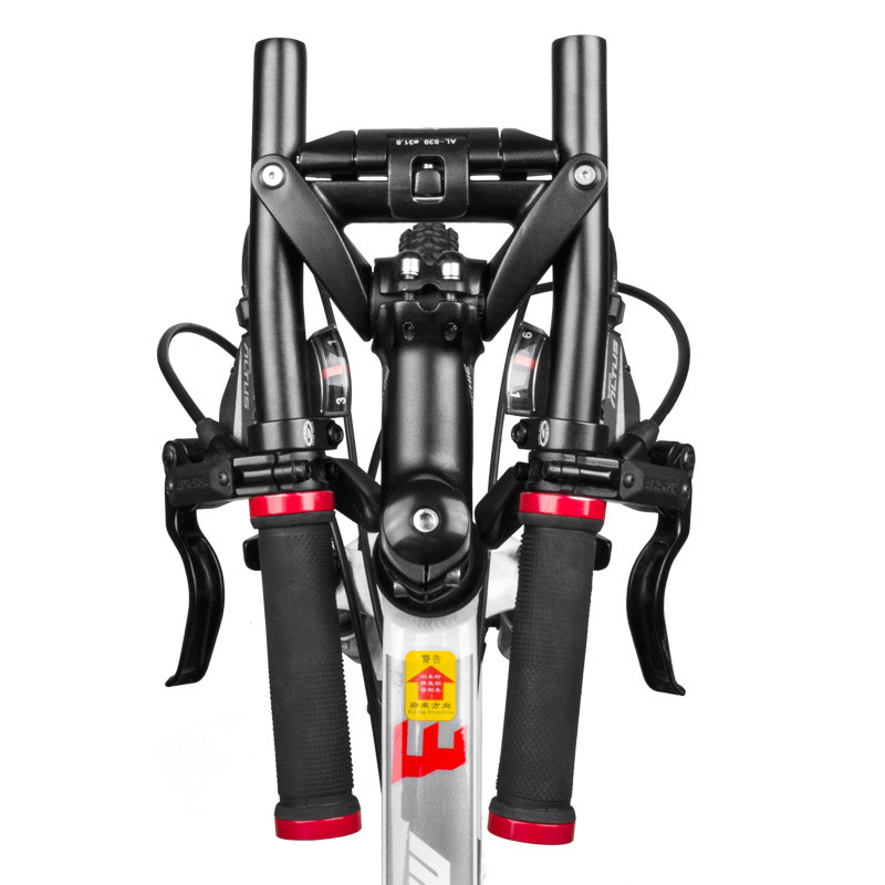 Folding Bicycle Handlebar Handle Bare Compatible with stem mountain bike folding handlebar travel bending handlebars цены онлайн