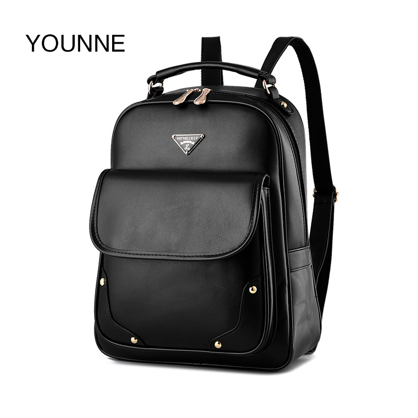 YOUNNE Women Bag Backpack For Women's Solid Color Fashion Shoulder Bags For Young Girl School Bag Female High Quality Backpacks 2017 new girl backpack mini high quality girl student casual female bags woman shoulder bag backpacks fashion female bag