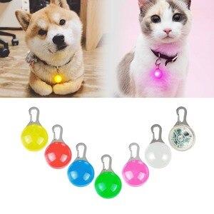 Image 1 - Светодиодный ошейник для домашних питомцев, ночник брелок с подвеской, Яркий светящийся в темноте светящийся ошейник для собак и кошек