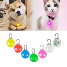 Collar LED de seguridad para perros y gatos, llavero brillante, Collar con colgante de luz nocturna para mascotas, Collar brillante en la oscuridad