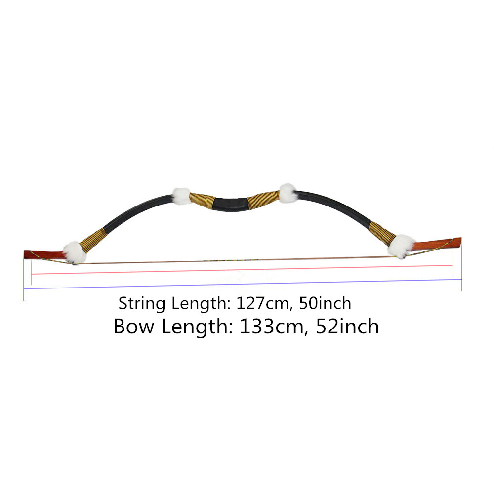 Archery 45lbs Recurve Bow Traditional Wooden Longbow for 400 spine Carbon/Fiberglass Arrow Hunting Target Shooting wholesale archery equipment hunting carbon arrow 31 400 spine for takedown bow targeting 50pcs