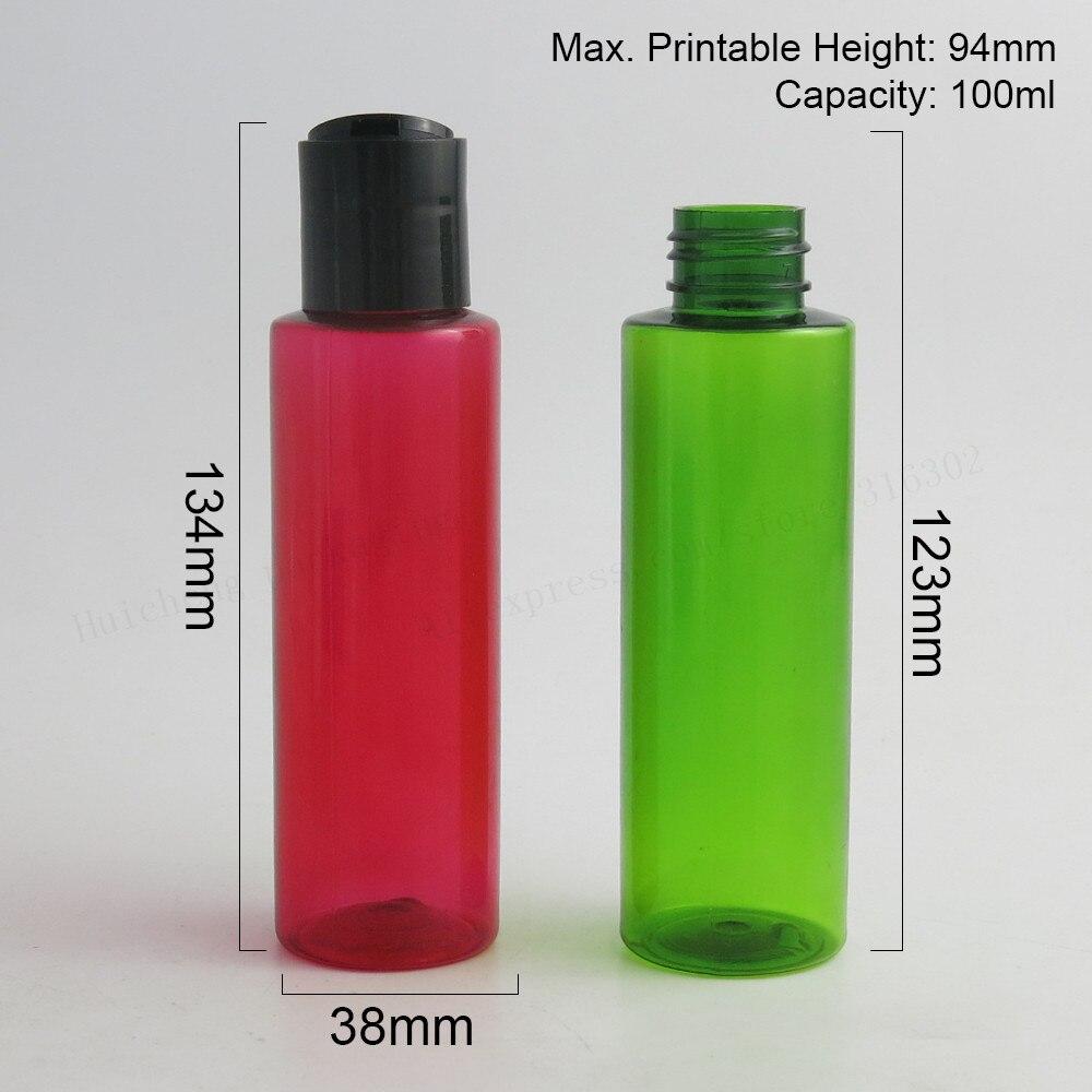 ᐂ30x100 Ml Diy Pet Plastik şişe Ile Plastik Disk Kapaklar 100 Ml