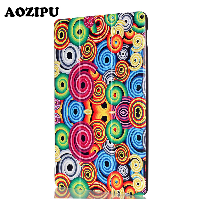 AOZIPU Print Case for Asus Zenpad Z300 Z300C Z300CL 10.1'' Tablet Case Colorful Painting Foldable Flip PU Leather Stand Cover