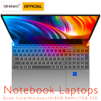 Notebook laptop 15.6 Intel Core i3 5005U Win10 1920x1080 FHD 8GB RAM 1TGB SSD Laptop with Backlit Keyboard Metal Cover Notebook