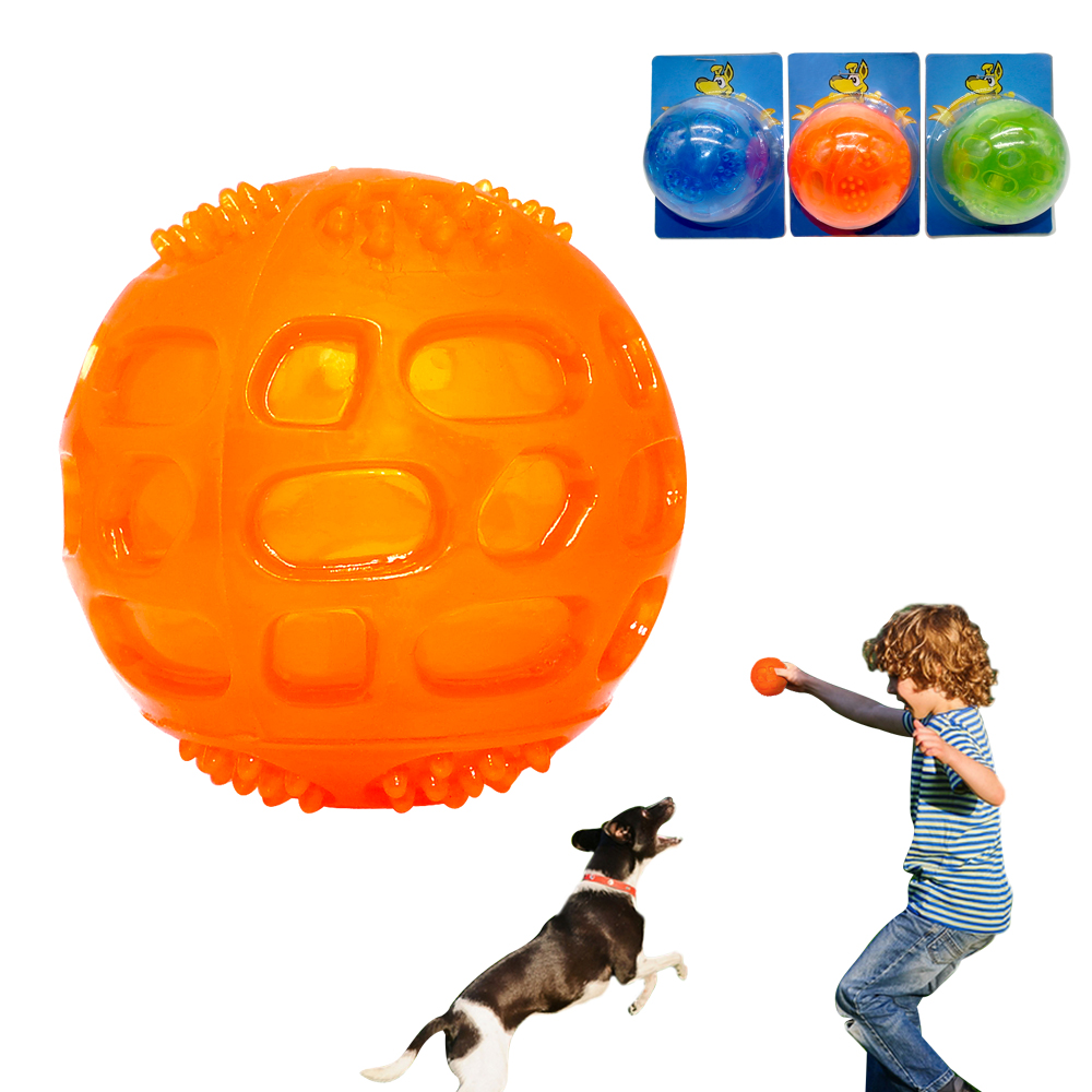 Dog Chew Toy Pet Squeak Ball Waterproof Sound Toys Rubber