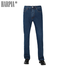 HARPIA Men Jeans Pants Mens Casual Denim Trousers Male Classic Plus Size 8xl Cowboy Long Pants Man Micro-elastic Straight Jeans цена 2017
