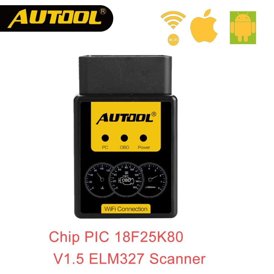 AUTOOL A1 Obd2 V1.5 Bluetooth/WIFI OBD2 OBD II Del Coche Auto de Diagnóstico Del Escáner Funciona en Android Mejor que ELM327