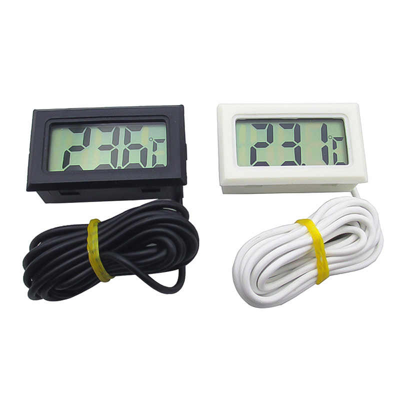 1Pcs LCD Digital Thermometer Waterproof Freezer Aquarium Thermometer 2 Seconds Refresh Digital Sensor Weather Station