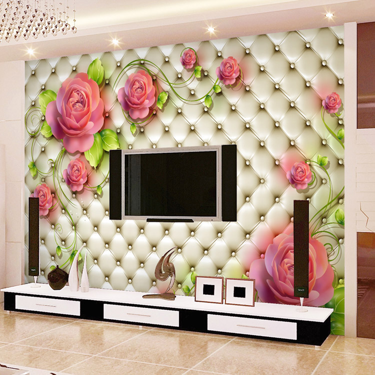 US $17.0 37% OFF|Romantische Rose fototapete 3D Blumen Wandbild  Kundenspezifische Elegante Tapete LIEBE Wandmalereien Kind Hochzeit  wandkunst ...