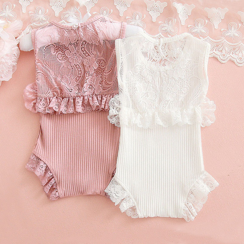 Baby Girl Lace   Rompers   0-24M Spring Summer Cotton Baby Overalls Newborn Clothes Roupas de bebe New Born Girls Jumpsuit Clothing