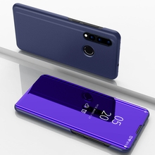 Smart Flip Case For Huawei Nova 4 Clear View Leather Cover Stand Mirror for Nova4
