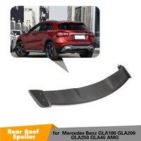 For Mercedes Benz GLA Class CLA200 CLA250 CLA45 AMG Base Sport 2013 2018 Carbon Fiber Rear Roof Lip Spoiler