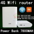 Original Xiaomi Zmi MF855 7800MAH mifi 3G 4G Wifi Router Mobile 4g dongle Power Bank 7800mAh pk y853 e589 b593