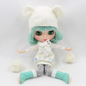 Image 4 - Blyth دمية ملابس الثلوج بما في ذلك اللباس ، طماق ، قبعة ، أحذية ، قفازات وشاح ل 1/6 دمية BJD NEO