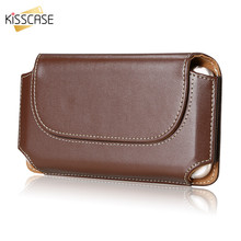 KISSCASE Phone Case For Xiaomi Mi6 Cases Redmi Note 5 Belt Bag Phone Case For iPhone X 8 7 6 6s Plus Leather Cover for Samsung