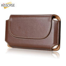 KISSCASE Belt funda para teléfono para Xiaomi Mi9 fundas Redmi Note 5 bolsa funda para iPhone 7 6x8 6s Plus Funda de cuero para Samsung(China)
