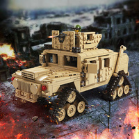 KAZI Models Building Toy Compatible With Lego B10000 1463pcs Military Tank Blocks Toys Hobbies For Boys
