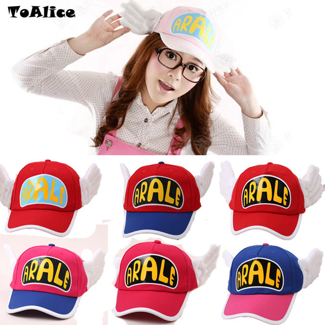 Japanese Anime Cute Dr.Slump Arale Angel Wings Anime Cosplay Hats Summer Cap Baseball Cap for Adult Size