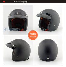Motorcycle matte cafe racer helmet support New Retro Fashion Motos helmet Unisex Men And Women Motocross Moto Helmet Capacete