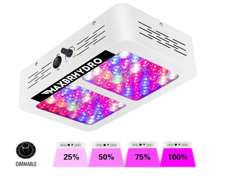 Artpad 600W LED Grow Light Full Spectrum AC 100-240V Dimmable Hydroponic Vegetative Grow ...
