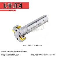 HTS-C40-100-20-8T-150/HTS-C40-125-20-10T-150 三両面フライスカッターカッター溝加工カッター T-スロット CNC フライスカッター