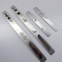 for Toyota Aygo 2009 2014 Automobile Stainless Steel Door Sill Strip Scuff Plate Car Styling Stickers Auto Accessories 4 Pcs