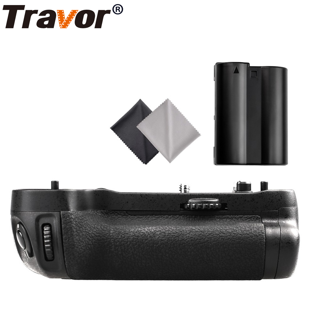 Travor Professional Battery Grip for Nikon D500 DSLR Camera as MB-D17 MBD17+1pcs EN-EL15 battery +2pcs Lens Cloth meike mk d500 vertical battery grip shooting for nikon d500 camera replacement of mb d17