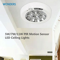 5W 7W 11W PIR Motion Sensor LED Ceiling Lights Surface Mounted Automatic Led Panel Light Detector