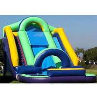 Gaint PVC inflatable side high quality outdoor amusement inflatable water side