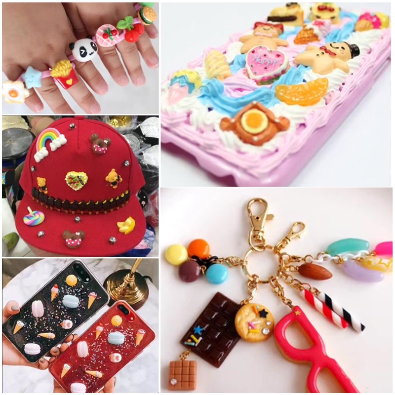 Doll Houses The Best Resin Charms Beads Accessories Diy Phone Shell Jewelry Slime Filler Doll House Oct20-a Goods Of Every Description Are Available