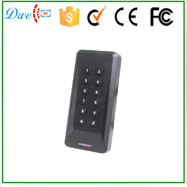 DWE CC RF Free shipping mini wiegand 26 wiegand 34 interface 125khz passive rfid keyapd reader for door access control system dwe cc rf 13 56 mhz outdoor rfid card reader for access control system wiegand 26 free shipping