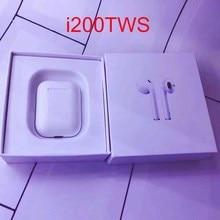 Оригинальные i200 TWS 1: 1 размер Bluetooth беспроводные 6D тяжелые 6D бас наушники для ppl PK i100 tws