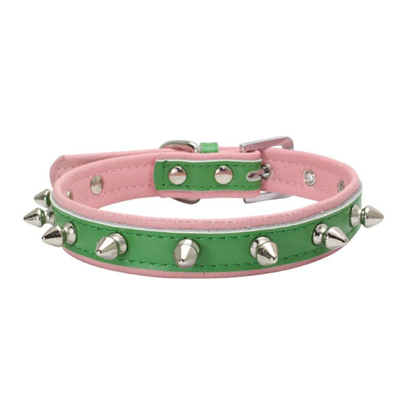 Sharp Spiked Studded Leather Collar for Large Dog Pet Pitbull Mastiff Durable Dropship L M S XS Sizes