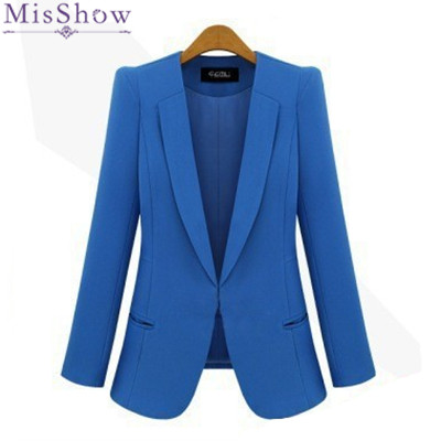 Black Friday Plus Size 4XL Fashion Street Jackets Women  Spring Slim Casaco Blazer Casual Coats Candy Color Blazer Feminino