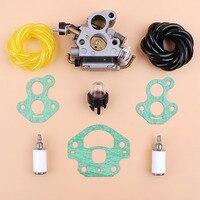 Kit de filtro mangueira combustível da junta do carburador para husqvarna 135 140 435 435e 440 440e jonsered cs410 cs2240 cs2240s motosserra a gás peças sobressalentes