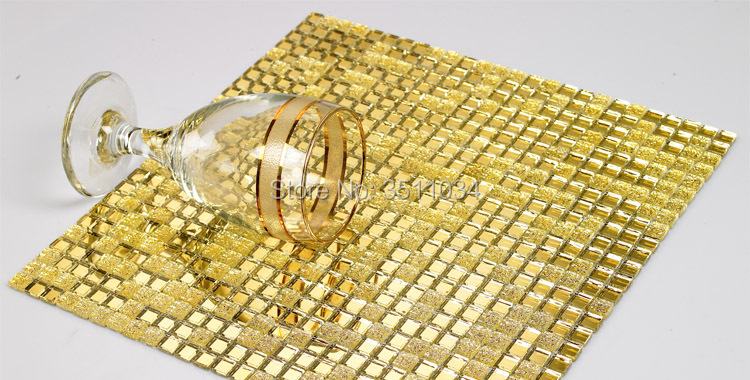 10mm small particles of gold mirror glass mosaic tile wall decoration materials KTV TV background