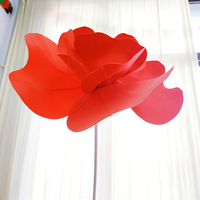 Large 90cm Foam Poppies Flower Head Wall Hang Artificial PE Flower Display Wedding Home Background Festive Stage Decor