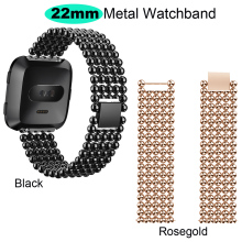 22mm Bracelet Stainless Steel Metal Strap For Xiaomi Huami Amazfit GTR 47mm Pace Stratos 2 Watch Band For Samsung Gear S3 Straps