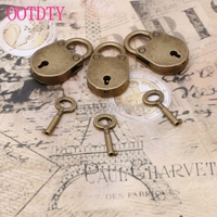 Old vintage antique style mini archaize padlocks key lock with key lot of 3 s018y high.jpg 200x200
