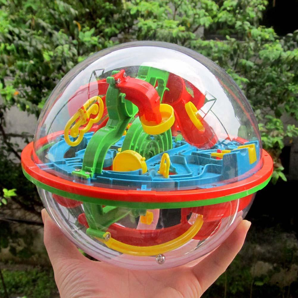 100 Steps Small Big Size 3D Labyrinth Magic Rolling Globe Ball Marble Puzzle Cubes Brain Teaser Game Sphere Maze Drop Shipping(China)