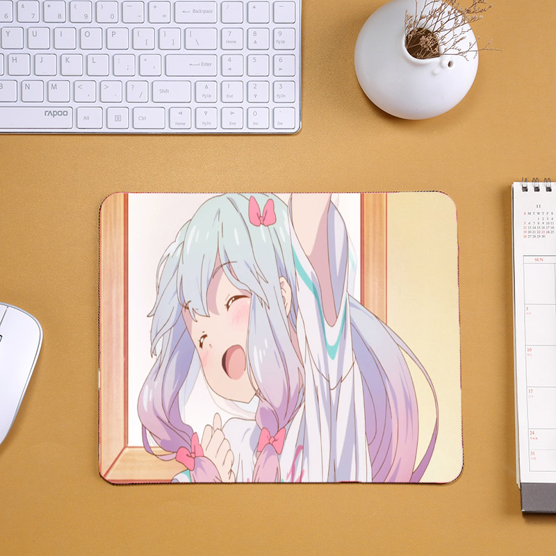 Mairuige Cute Mini Anime Mousepad for Anime Lovers Rorikon Pc Game Mats Eromanga-sensei Izumi Sagir Imouto Cute Computer Mats