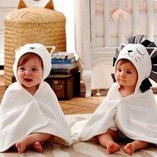 Детский халат с капюшоном и рисунком кота; детское спа-полотенце с героями мультфильмов; детский банный халат; детское пляжное полотенце; Новинка