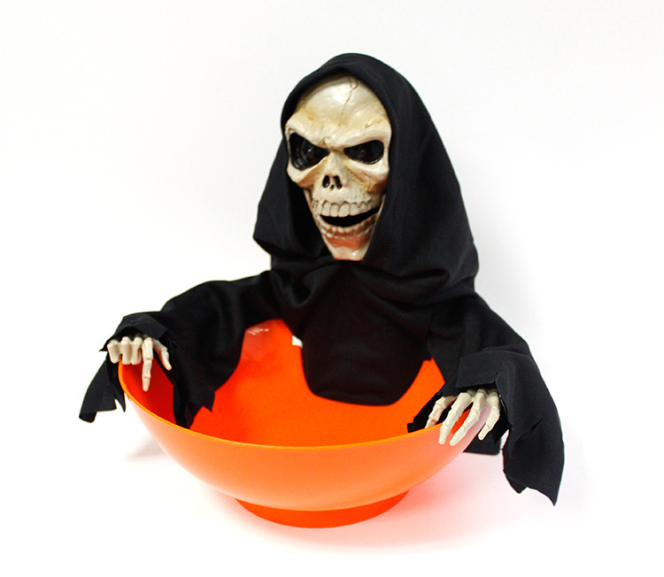 1Piece Hot Selling Grim Reaper Animated Snapping Sam Candy Bowl Hallowmas Decoration1Piece Hot Selling Grim Reaper Animated Snapping Sam Candy Bowl Hallowmas Decoration