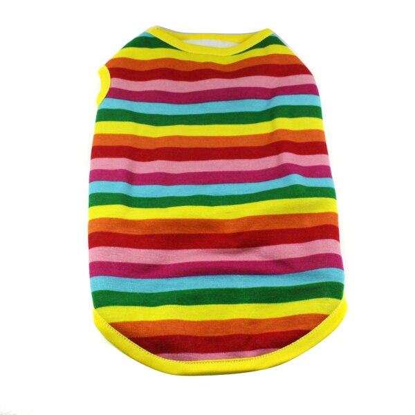 Pet Jacket Clothes Pet Puppy Dog Warm Rainbow Vest Size S M L XL XXL Large
