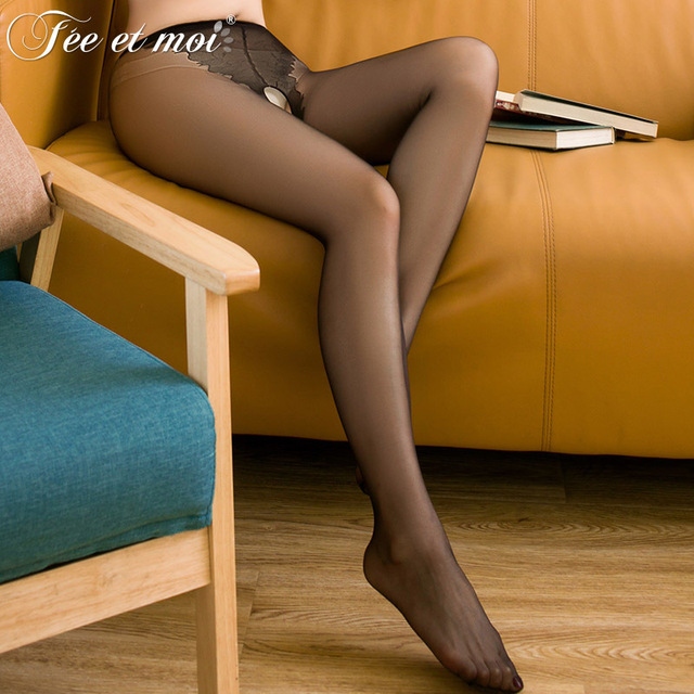 2018 New Plus Size Sexy Open Crotch Pantyhose For Women Stockings Sheer Nylon Socks Tights Sex